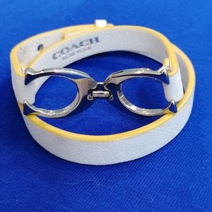 Coach Double CC White and Yellow Leather B…